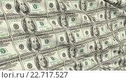 Купить «Развевающиеся долларовые банкноты», видеоролик № 22717527, снято 17 октября 2011 г. (c) ИЛ / Фотобанк Лори