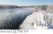 Купить «Зимний вид на реку Камчатку», видеоролик № 22718111, снято 17 июля 2019 г. (c) А. А. Пирагис / Фотобанк Лори