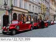 Прокат ретро автомобилей в Праге (2015 год). Редакционное фото, фотограф Кохан Пётр / Фотобанк Лори