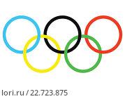 Олимпийские кольца. Редакционная иллюстрация, иллюстратор Aleksandr Ryzhov / Фотобанк Лори