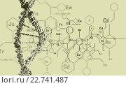 Купить «DNA research background», иллюстрация № 22741487 (c) Sergey Nivens / Фотобанк Лори