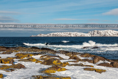 Купить «Побережье Баренцева моря, Северный Ледовитый океан,», фото № 22755587, снято 11 марта 2016 г. (c) Наталья Волкова / Фотобанк Лори