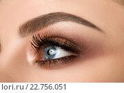 Глаз красивой девушки с макияжем. Стоковое фото, фотограф Людмила Дутко / Фотобанк Лори