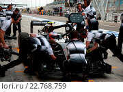 Купить «01.04.2016 - Free Practice 1, Jenson Button (GBR) McLaren Honda MP4-31», фото № 22768759, снято 1 апреля 2016 г. (c) age Fotostock / Фотобанк Лори