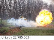 Подбили немецкий танк (2015 год). Редакционное фото, фотограф Юдин Владимир / Фотобанк Лори