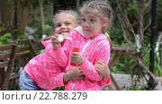 Купить «Девочка пускает мыльные пузыри, неожиданно ее обняла другая девочка, и они вместе продолжили пускать пузыри», видеоролик № 22788279, снято 8 мая 2016 г. (c) Иванов Алексей / Фотобанк Лори