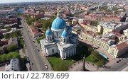 Троицкий собор в Санкт-Петербурге, вид сверху (2016 год). Стоковое видео, видеограф Кекяляйнен Андрей / Фотобанк Лори