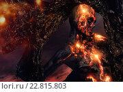 Купить «Creature made from lava and fire», фото № 22815803, снято 15 мая 2015 г. (c) Andrejs Pidjass / Фотобанк Лори