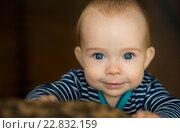 Ребенок крупным планом. Стоковое фото, фотограф Елена Ганненко / Фотобанк Лори