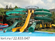 "Аквапарк ""Acqua plus"" (Греция, Крит, Херсонисос). Water park ""Acqua plus"" (Greece, Crete, Hersonissos). (2015 год). Редакционное фото, фотограф Хименков Николай / Фотобанк Лори"