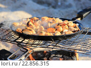 Мидии на огне. Стоковое фото, фотограф Дмитрий Спиридонов / Фотобанк Лори