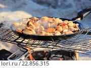 Купить «Мидии на огне», фото № 22856315, снято 8 мая 2016 г. (c) Дмитрий Спиридонов / Фотобанк Лори
