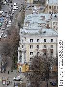 Купить «Сталинский дом, улица Советская, город Балашиха», эксклюзивное фото № 22858539, снято 30 октября 2015 г. (c) Дмитрий Неумоин / Фотобанк Лори
