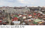 Купить «Панорама Краснодара в весенний  день», видеоролик № 22858579, снято 3 апреля 2016 г. (c) Олег Хархан / Фотобанк Лори