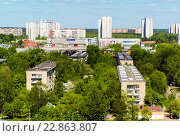 Moscow, Russia - May 13.2016. Zelenograd panorama from a height. Редакционное фото, фотограф Володина Ольга / Фотобанк Лори