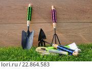 Купить «Садовый инструмент», эксклюзивное фото № 22864583, снято 7 мая 2016 г. (c) Юрий Морозов / Фотобанк Лори