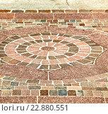 brick in castellanza street lombardy of a curch  marble. Стоковое фото, фотограф Zoonar/LKPRO / easy Fotostock / Фотобанк Лори