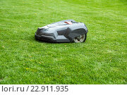 Купить «Prague, Czech Republic, automatic mowing on a lawn of Prague Castle», фото № 22911935, снято 26 августа 2013 г. (c) Caro Photoagency / Фотобанк Лори
