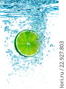 Купить «Green lime in the Water.», фото № 22927803, снято 12 июля 2013 г. (c) Андрей Армягов / Фотобанк Лори