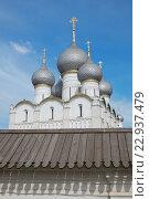 Купить «Успенский собор в кремле Ростова Великого», фото № 22937479, снято 1 мая 2016 г. (c) Дмитрий Грушин / Фотобанк Лори