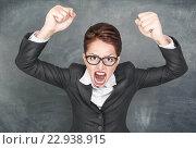 Учительница кричит. Стоковое фото, фотограф Darkbird77 / Фотобанк Лори