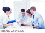 Купить «business team having meeting in office», фото № 22940527, снято 9 июня 2013 г. (c) Syda Productions / Фотобанк Лори