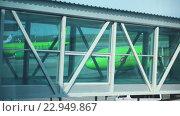 Купить «Airport jetway terminal», видеоролик № 22949867, снято 7 мая 2016 г. (c) Игорь Жоров / Фотобанк Лори