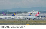 Купить «Boeing 777 take-off and climb», видеоролик № 22950267, снято 4 сентября 2015 г. (c) Игорь Жоров / Фотобанк Лори