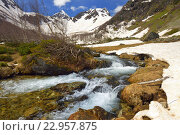 Купить «Весенний ручей в Кавказских горах», фото № 22957875, снято 21 мая 2016 г. (c) александр жарников / Фотобанк Лори