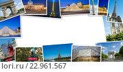 Купить «PARIS - JULY 12, 2013: Eiffel Tower on July 12, 2013 in Paris. Eiffel tower is one the most popular attractions in Paris», фото № 22961567, снято 12 июля 2013 г. (c) Elnur / Фотобанк Лори