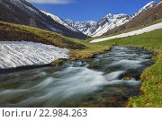 Купить «Река на Кавказе», фото № 22984263, снято 22 мая 2016 г. (c) александр жарников / Фотобанк Лори