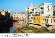 Купить «picturesque view of Gerona with river», фото № 22986107, снято 16 декабря 2018 г. (c) Яков Филимонов / Фотобанк Лори