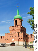 Купить «Башня Одоевских ворот Тульского Кремля», фото № 22997923, снято 7 августа 2015 г. (c) Денис Ларкин / Фотобанк Лори