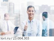 Купить «group of smiling businesspeople meeting in office», фото № 23004303, снято 25 октября 2014 г. (c) Syda Productions / Фотобанк Лори
