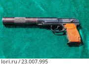 Купить «Пистолет для бесшумной стрельбы ПБ», фото № 23007995, снято 29 мая 2016 г. (c) FotograFF / Фотобанк Лори