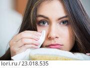 Купить «Frustrated woman is melancholy», фото № 23018535, снято 20 февраля 2020 г. (c) Яков Филимонов / Фотобанк Лори