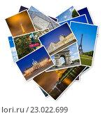 Купить «PARIS - JULY 12, 2013: Eiffel Tower on July 12, 2013 in Paris. Eiffel tower is one the most popular attractions in Paris», фото № 23022699, снято 12 июля 2013 г. (c) Elnur / Фотобанк Лори