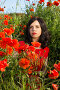 Купить «Girl in a field of poppies», фото № 23041915, снято 30 мая 2016 г. (c) Типляшина Евгения / Фотобанк Лори