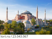 Вид на собор Святой Софии, Стамбул, Турция (2015 год). Стоковое фото, фотограф Наталья Волкова / Фотобанк Лори