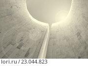 Купить «Перспективный вид снизу на полукруглую стену», фото № 23044823, снято 3 мая 2016 г. (c) Зезелина Марина / Фотобанк Лори