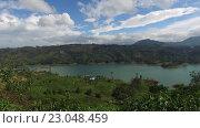 Купить «view to lake or river from land hills», видеоролик № 23048459, снято 18 февраля 2016 г. (c) Syda Productions / Фотобанк Лори