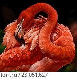 Фламинго. Стоковая иллюстрация, иллюстратор Елена Саморядова / Фотобанк Лори