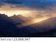 Fodom Valley, Dolomites, Livinallongo del Col di Lana, Belluno, Veneto, Italy. Стоковое фото, фотограф Clickalps SRLs / age Fotostock / Фотобанк Лори