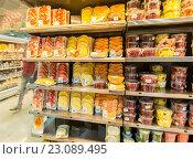 Купить «Dubai - JANUARY 7, 2014: Dubai Supermarket Waitrose on January 7», фото № 23089495, снято 7 января 2014 г. (c) Elnur / Фотобанк Лори