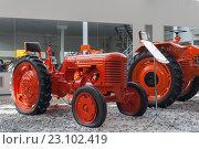 """Купить «Старый трактор """"DT-20"""" в музее, Чебоксары», фото № 23102419, снято 5 июня 2016 г. (c) Александр Якимов / Фотобанк Лори"""