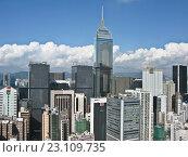 Купить «Городской пейзаж Гонконга», фото № 23109735, снято 10 ноября 2009 г. (c) Victoria Demidova / Фотобанк Лори
