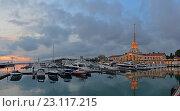 Купить «Сочинский морской порт, Сочи», фото № 23117215, снято 21 ноября 2018 г. (c) Игорь Архипов / Фотобанк Лори