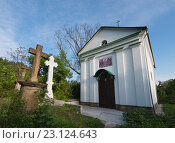 Кладбище в Кременце. Тернопольская область, Украина (2016 год). Стоковое фото, фотограф Онищенко Виктор / Фотобанк Лори