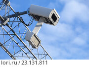 Камера видеонаблюдения. Стоковое фото, фотограф EugeneSergeev / Фотобанк Лори