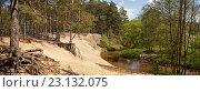 Панорама лесной реки. Стоковое фото, фотограф Сергей Панкин / Фотобанк Лори